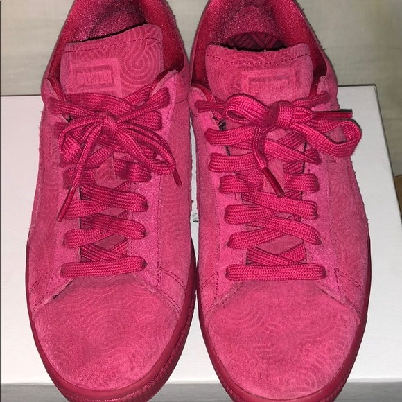 Puma Shoes | Dark Pink Puma | Poshmark